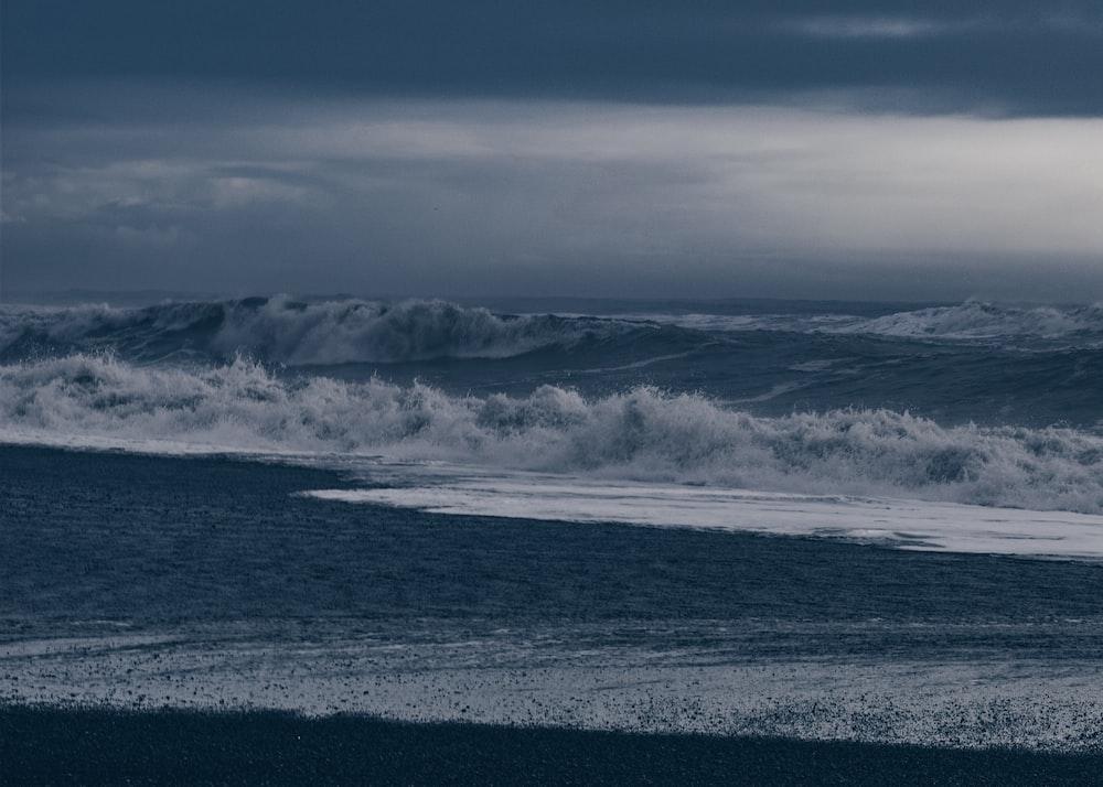 landscape photography of tidal wave