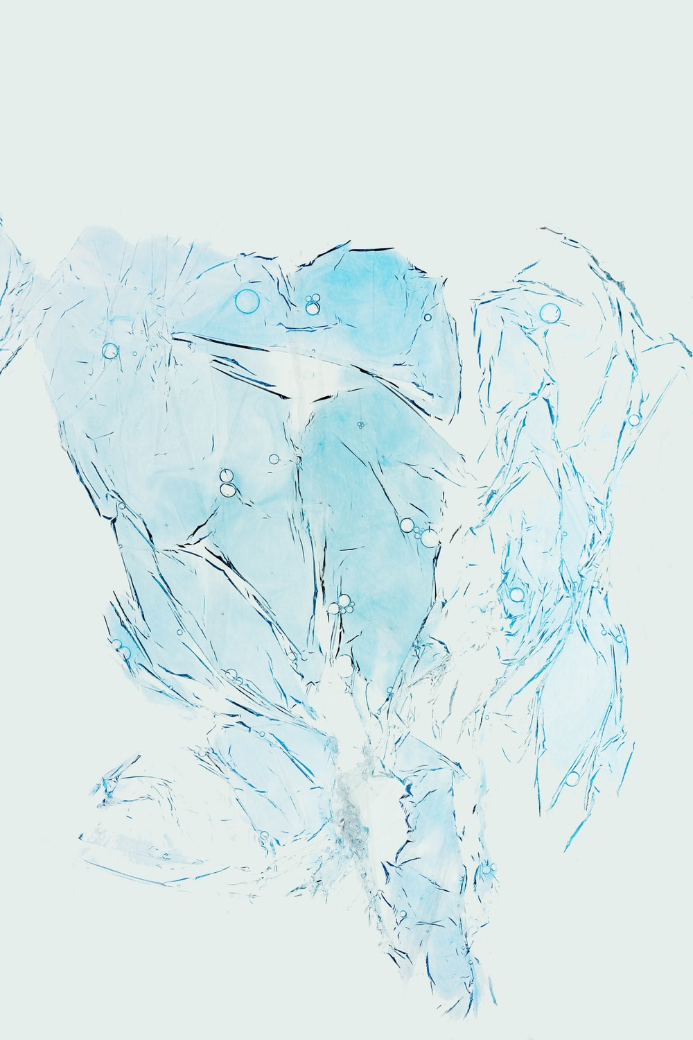 blue birds abstract painting