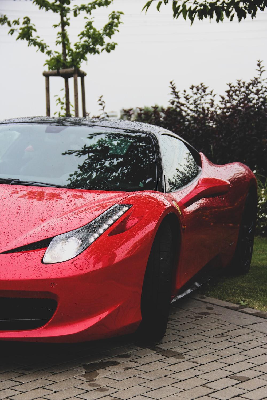red Ferrari 458 Italia coupe