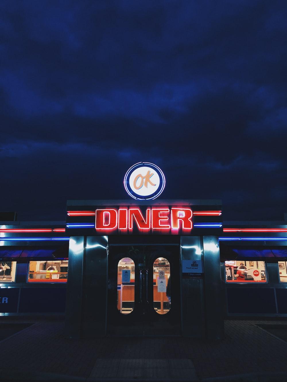 OK Diner LED sign