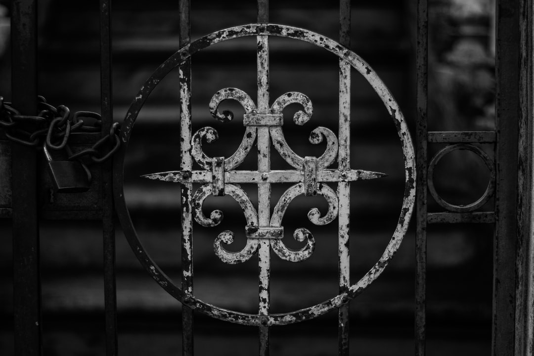 Rusted detail on the gate