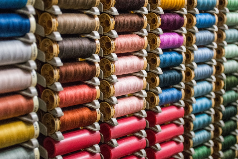 assorted color thread lot