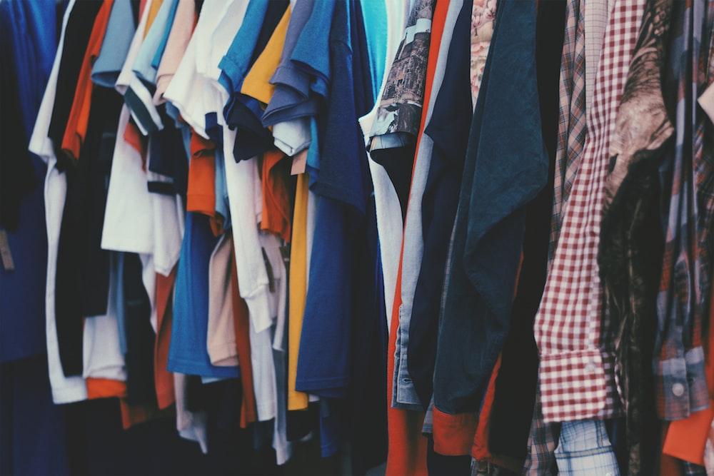 assorted apparels