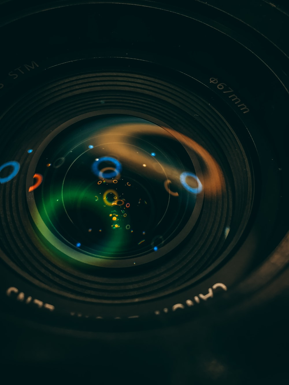 closeup photography of camera lens