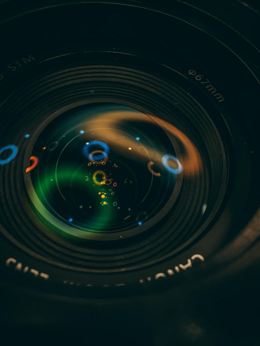 closeup photography of camera lens