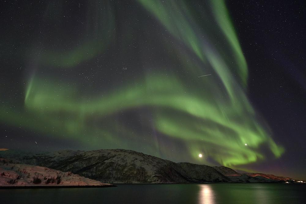 landscape photography of aurora borealis