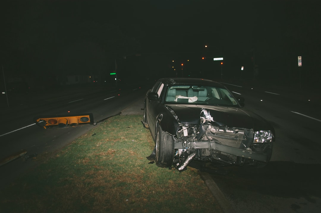 car accident at night