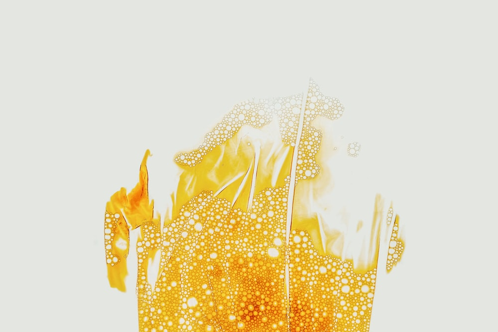 yellow flame-themed illustration