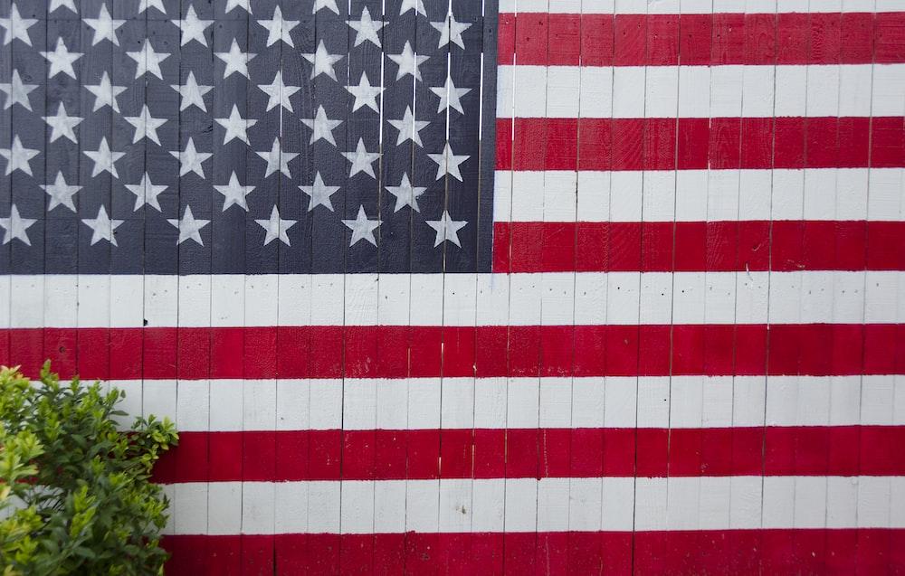 U.S.A. flag wall
