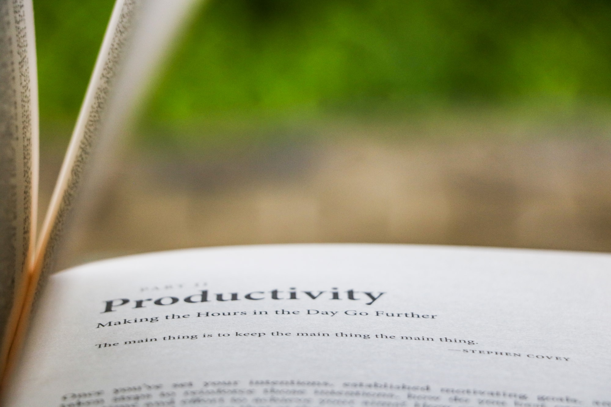 The Principles of Productivity