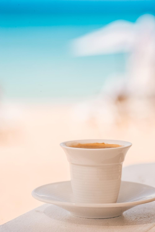 ceramic teacup with saucer
