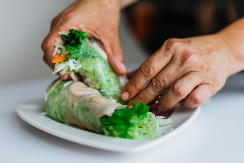 person holding vegetables