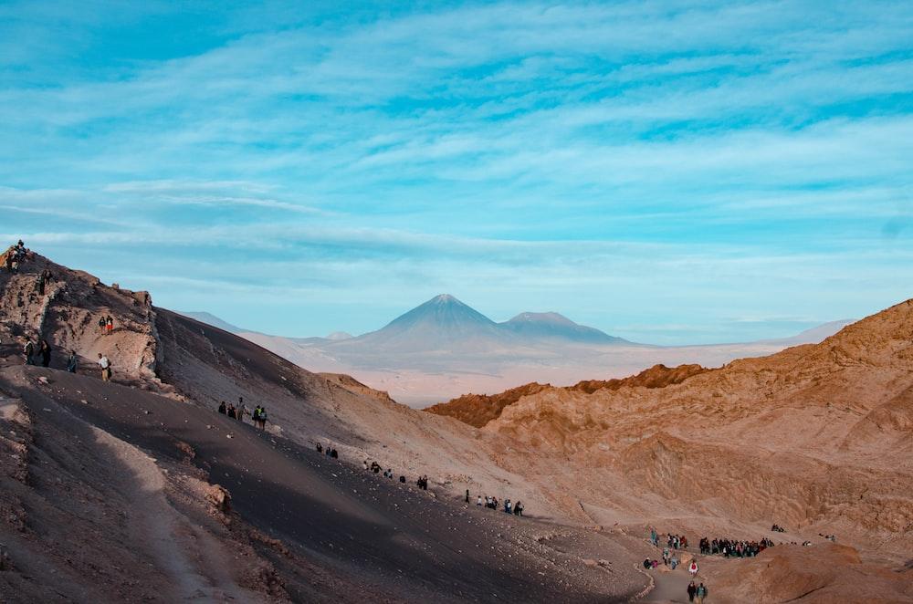 people on desert