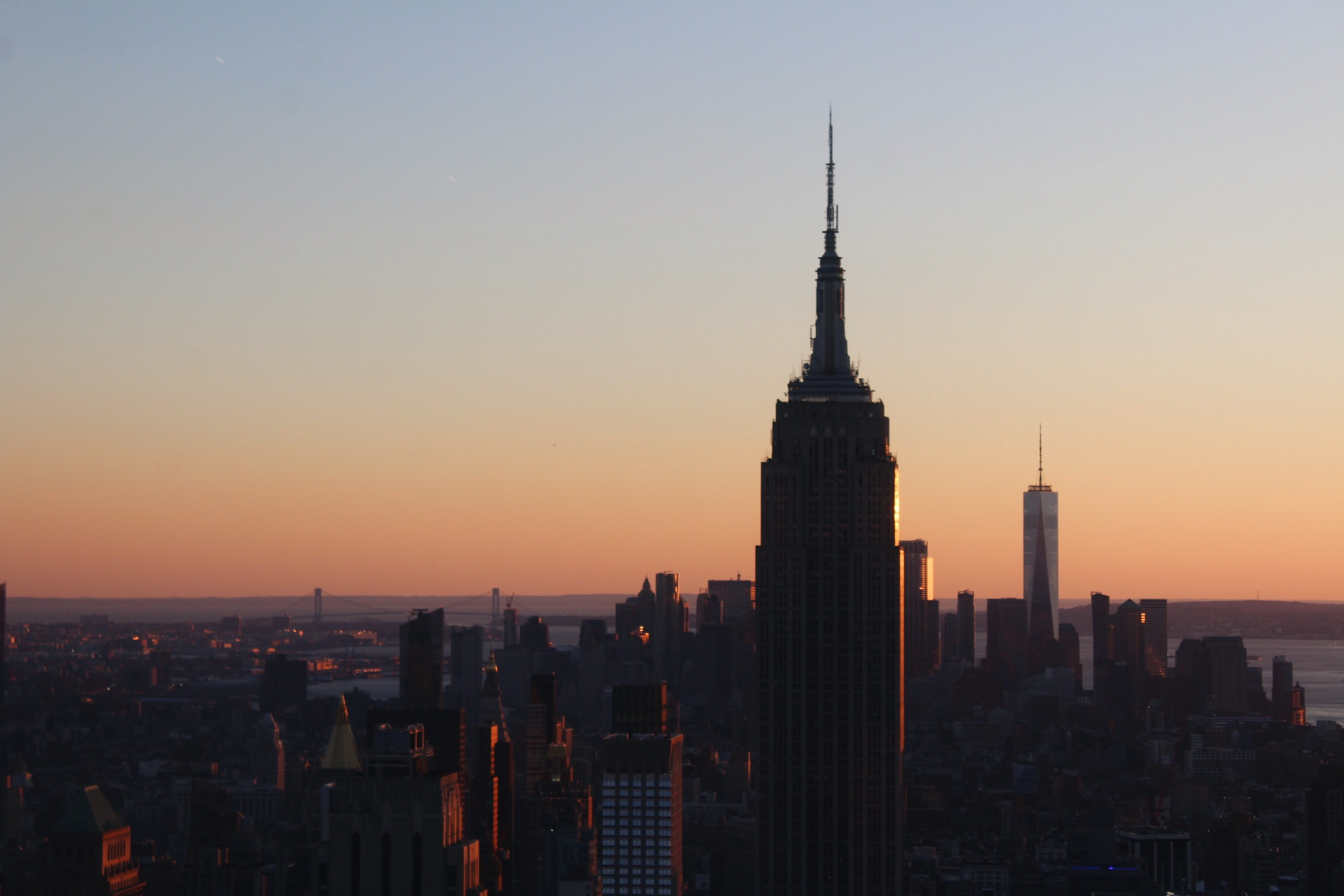 Empire State Building, New York during golden hour
