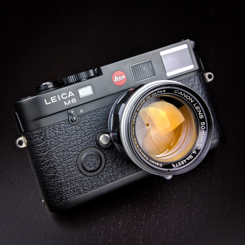 black Leica M6 camera