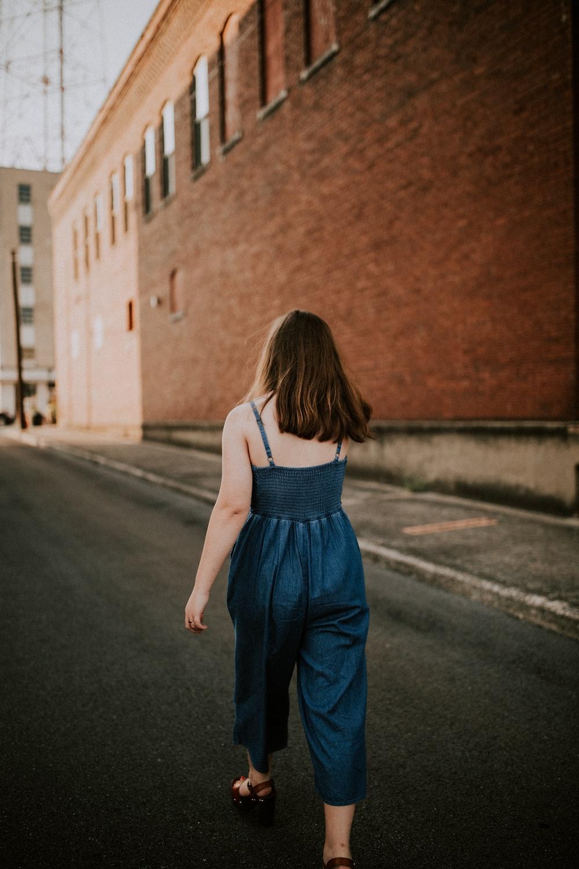 women's teal spaghetti strap dress
