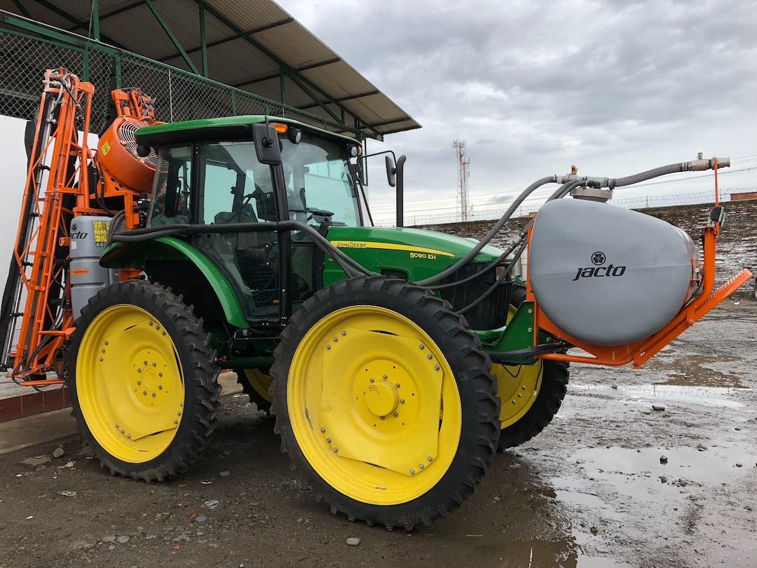 Tractor with Fertilization Equipment