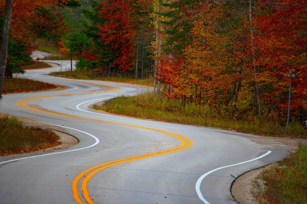 empty concrete road
