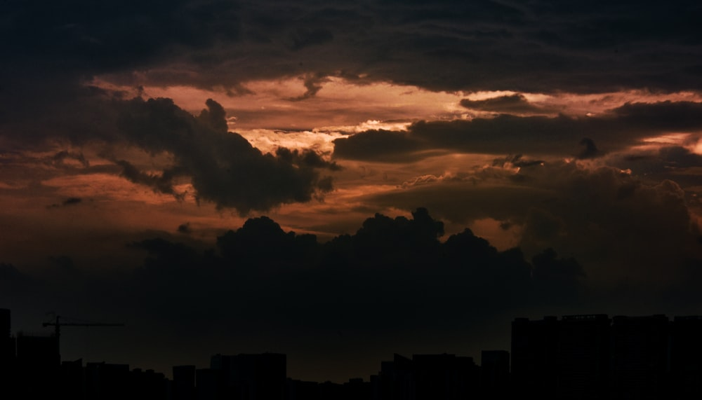 sunset with dramatic clouds