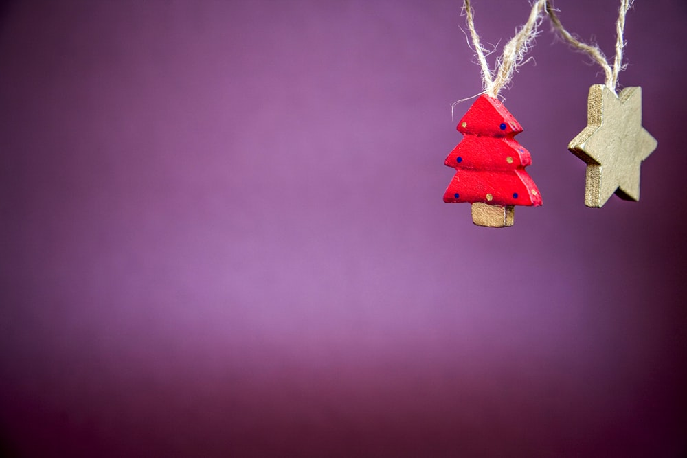 Christmas tree and star hanging decors