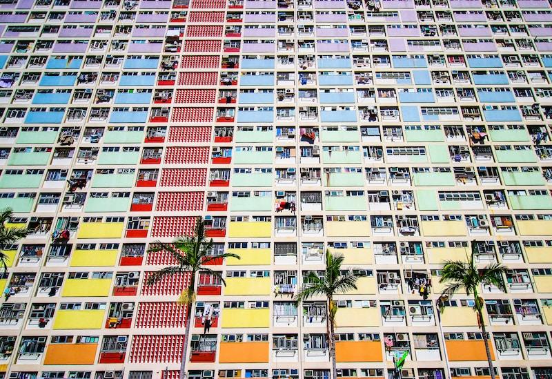 multicolored buildings