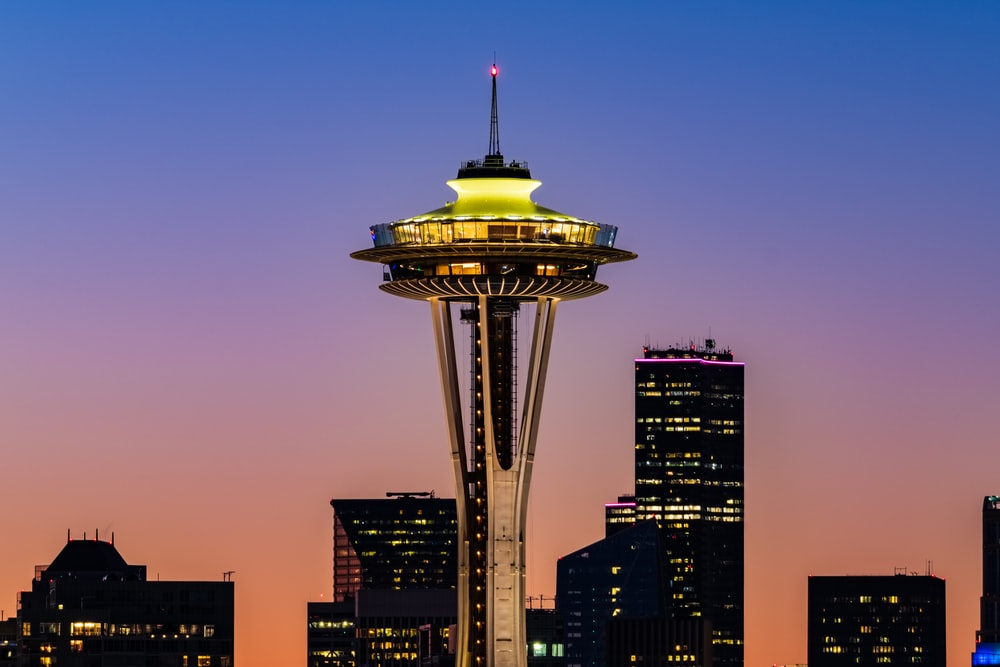 Space Needle, Seattle USA during night time
