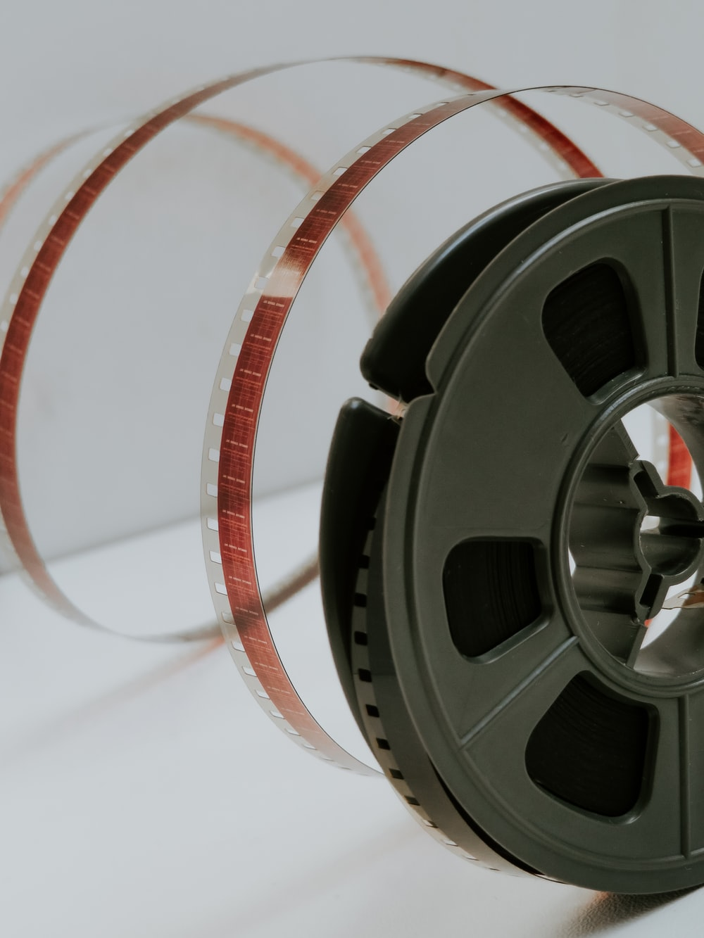 red and gray camera film