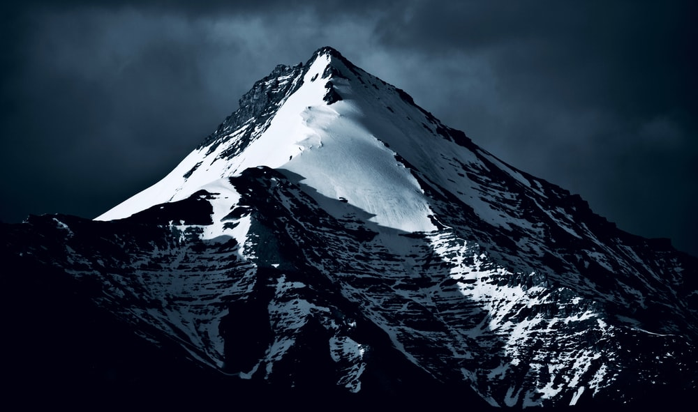 landscape photography of snow capped mountain