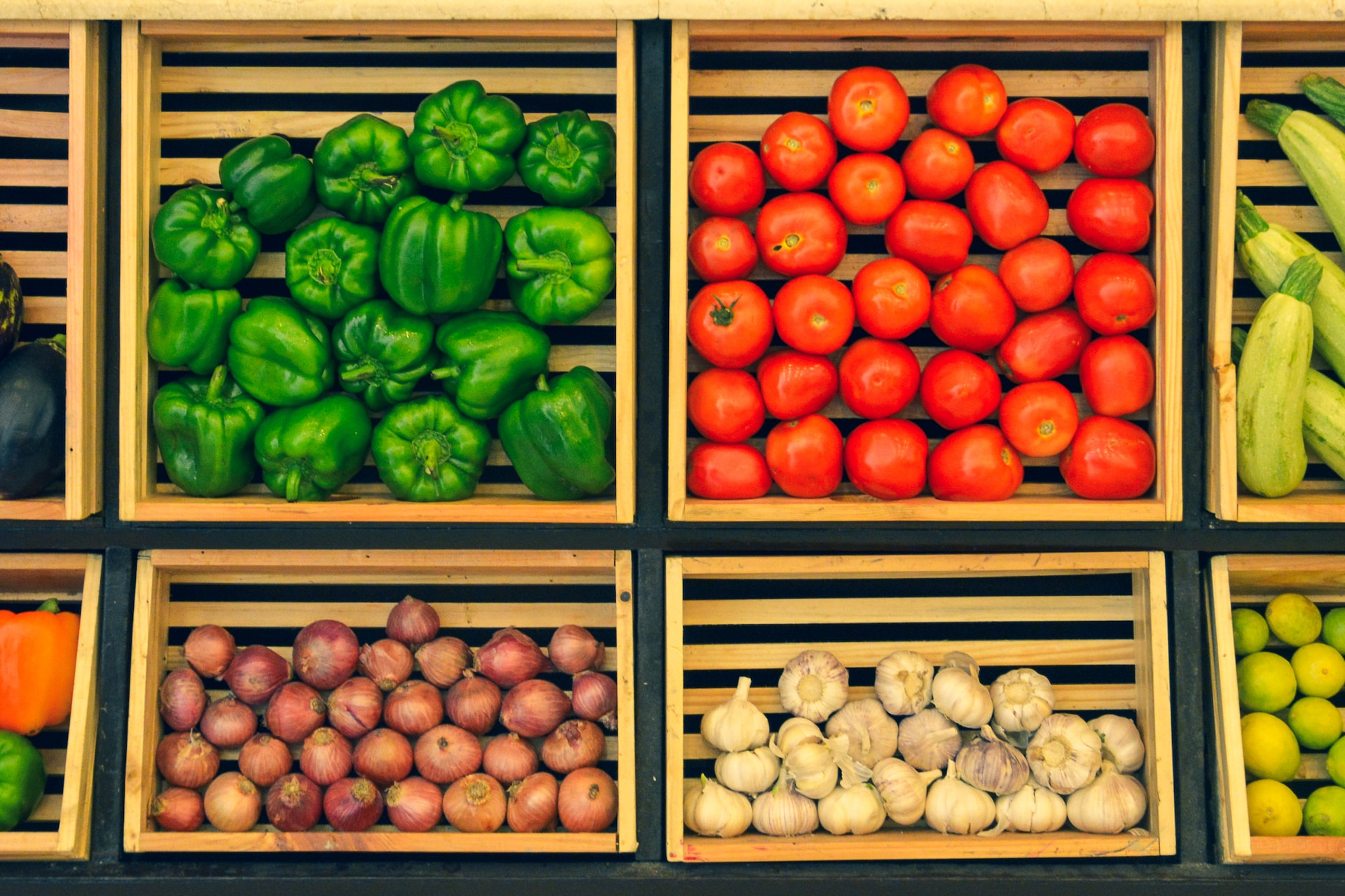 assorted vegetables on brown wooden crate