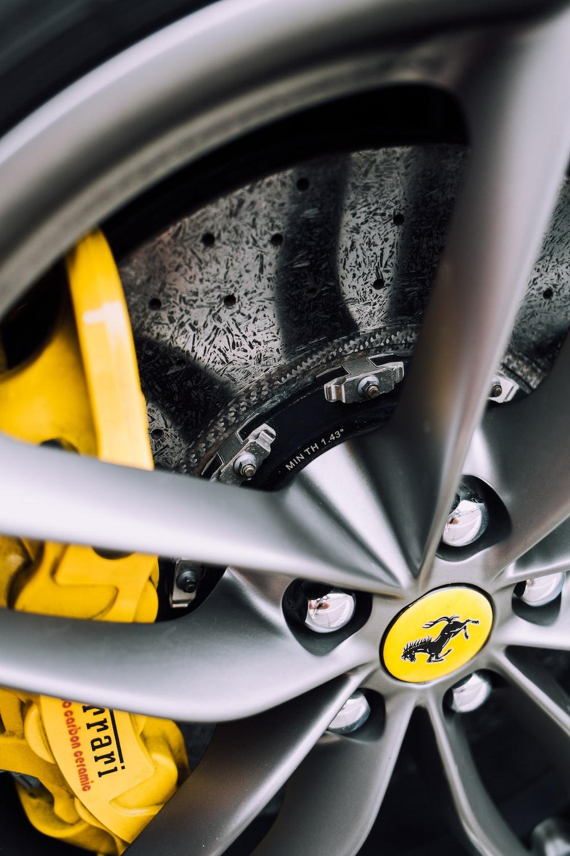 gray Ferrari vehicle wheel