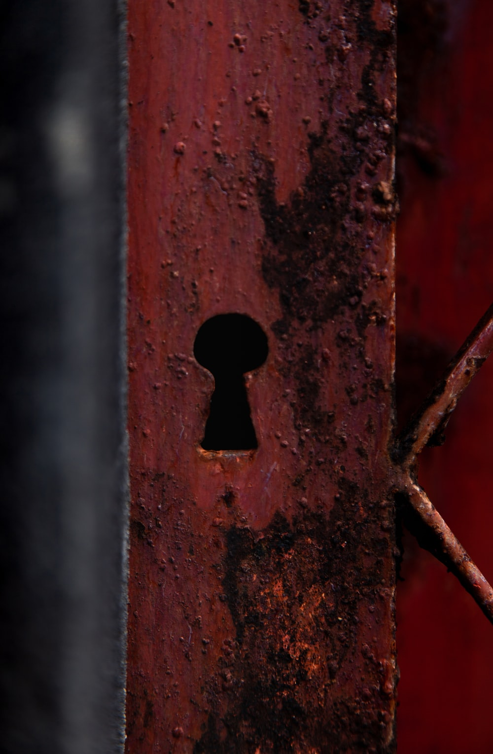 stainless steel lock hole