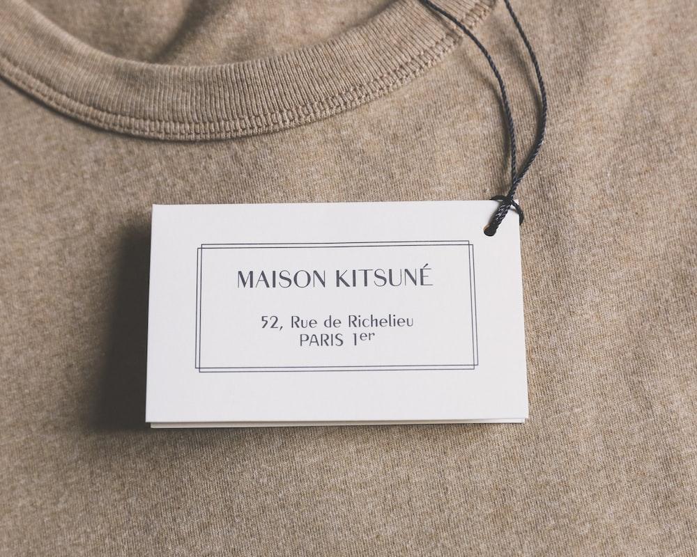 Maison Kitsune product label