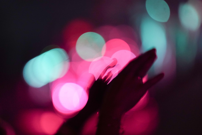 macro photography of hands