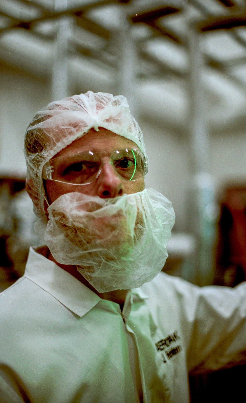 man standing while wearing face mask