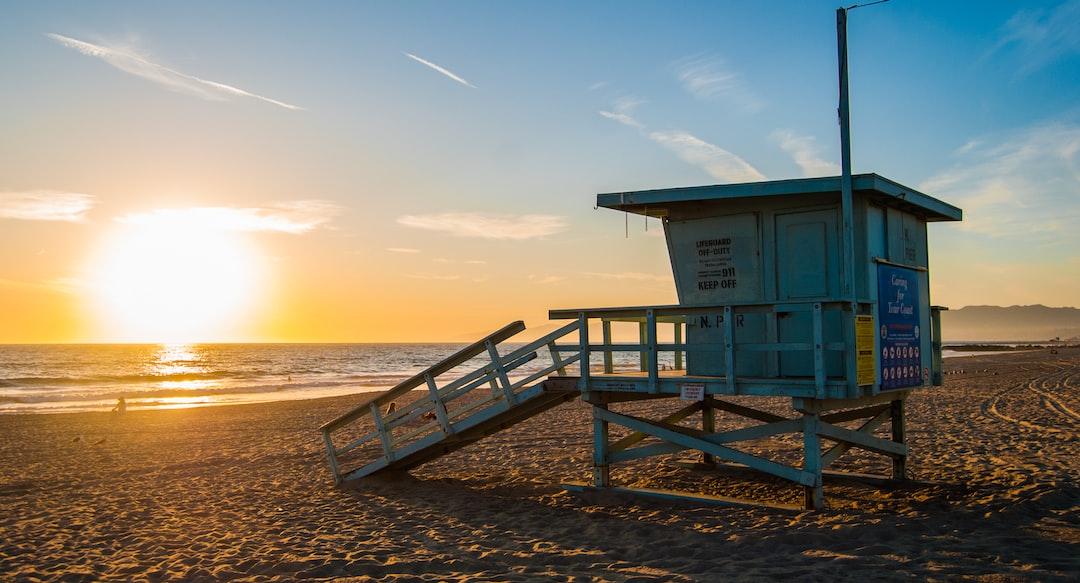 Couché de soleil sur Venice Beach