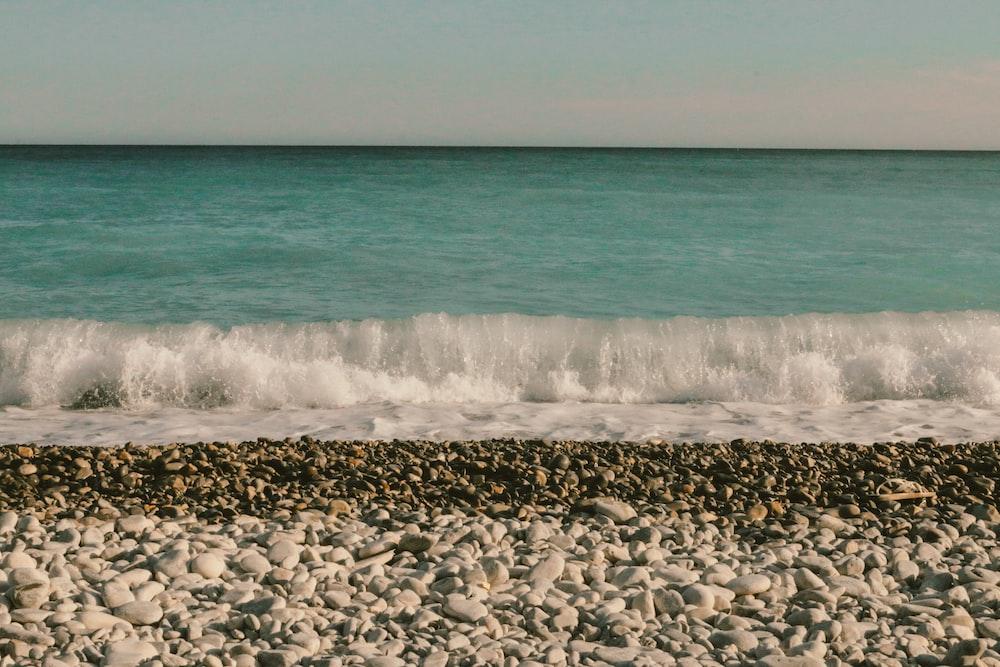 landscape photography of sea wave