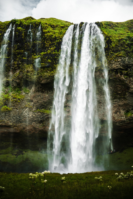 waterfalls during day