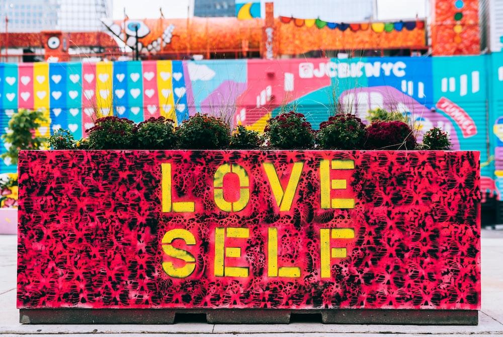 love self-printed banner