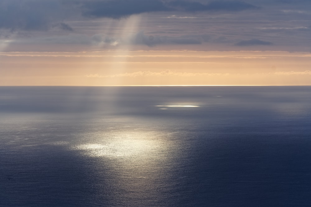 areal photography of ocean
