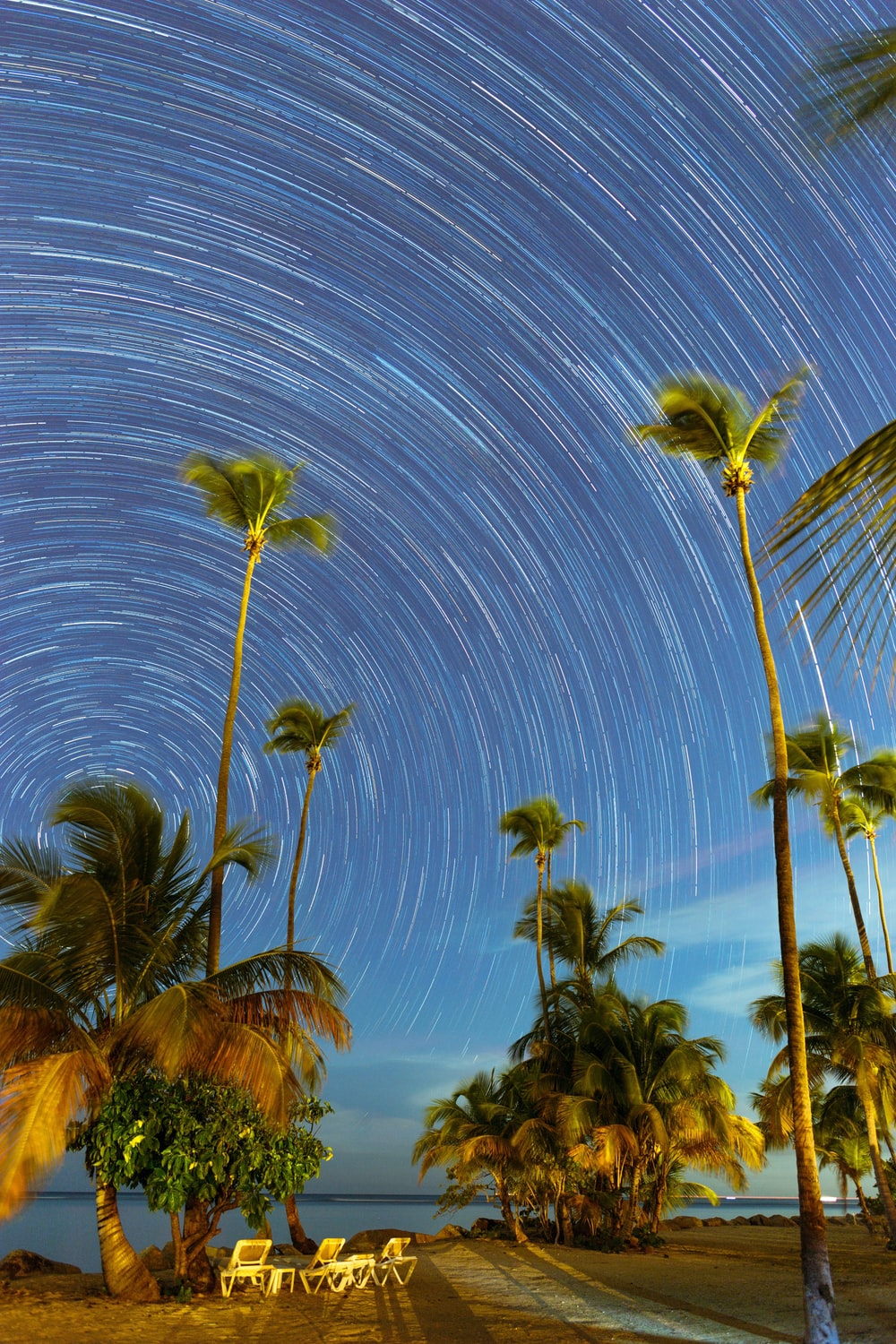time-lapse photography of star