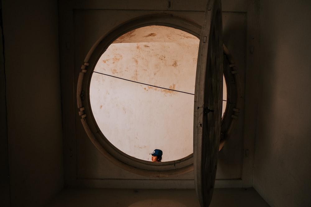 opened white window