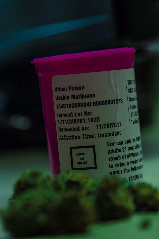 pink prescription bottle