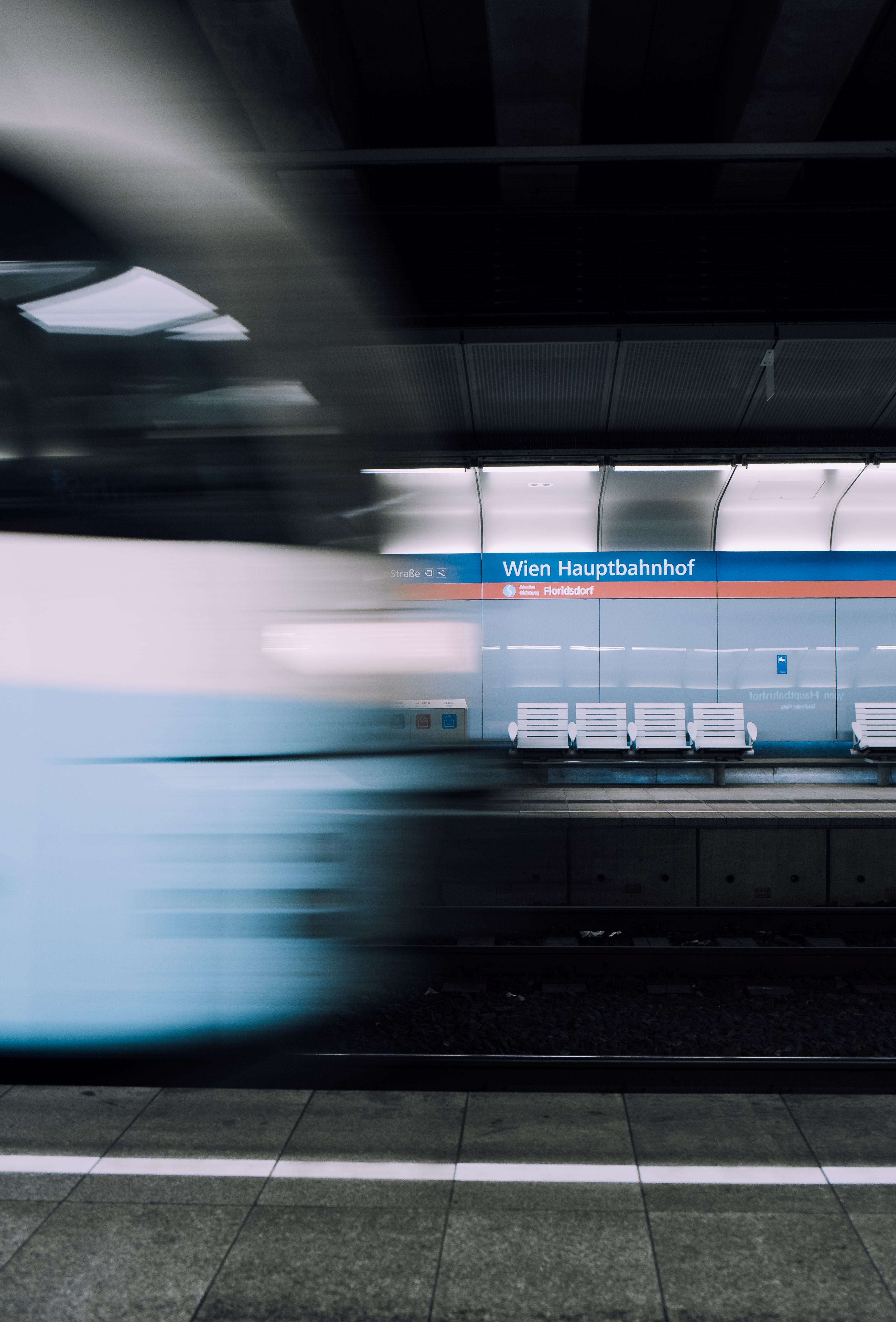 panning photography of train