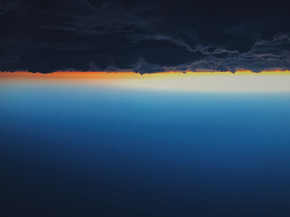 upside down photography of clouds