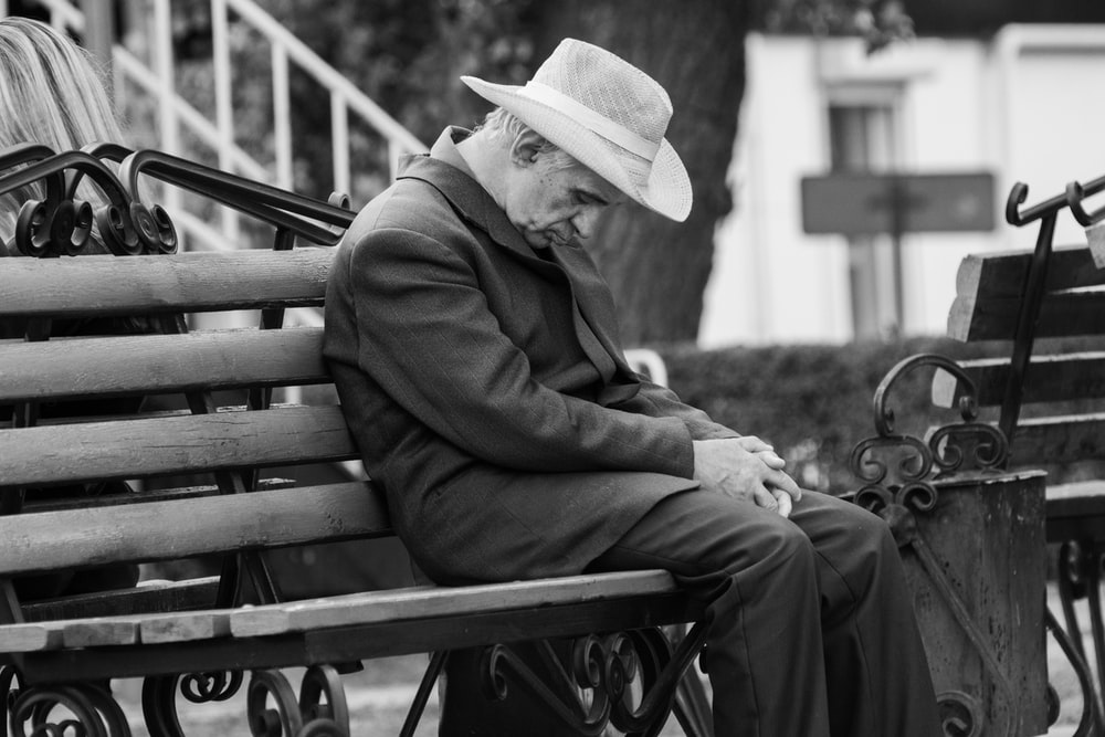 man sitting on the bench