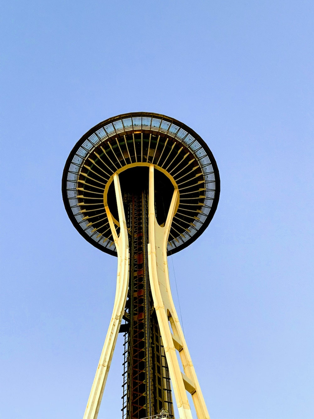 low angle photo of space needle tower