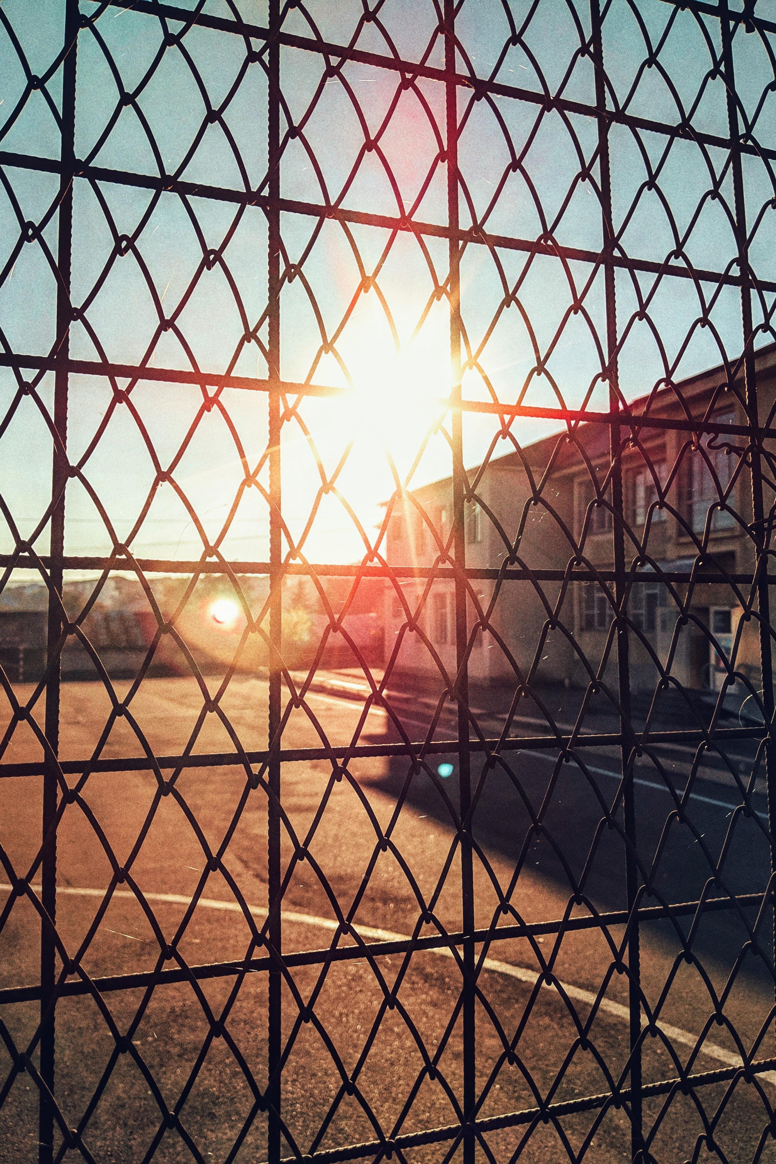 black steel fence