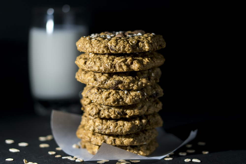 selective focus photography of cookies