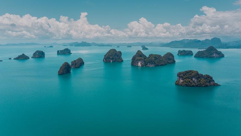 Coldest places in Thailand by minimum mean temperature