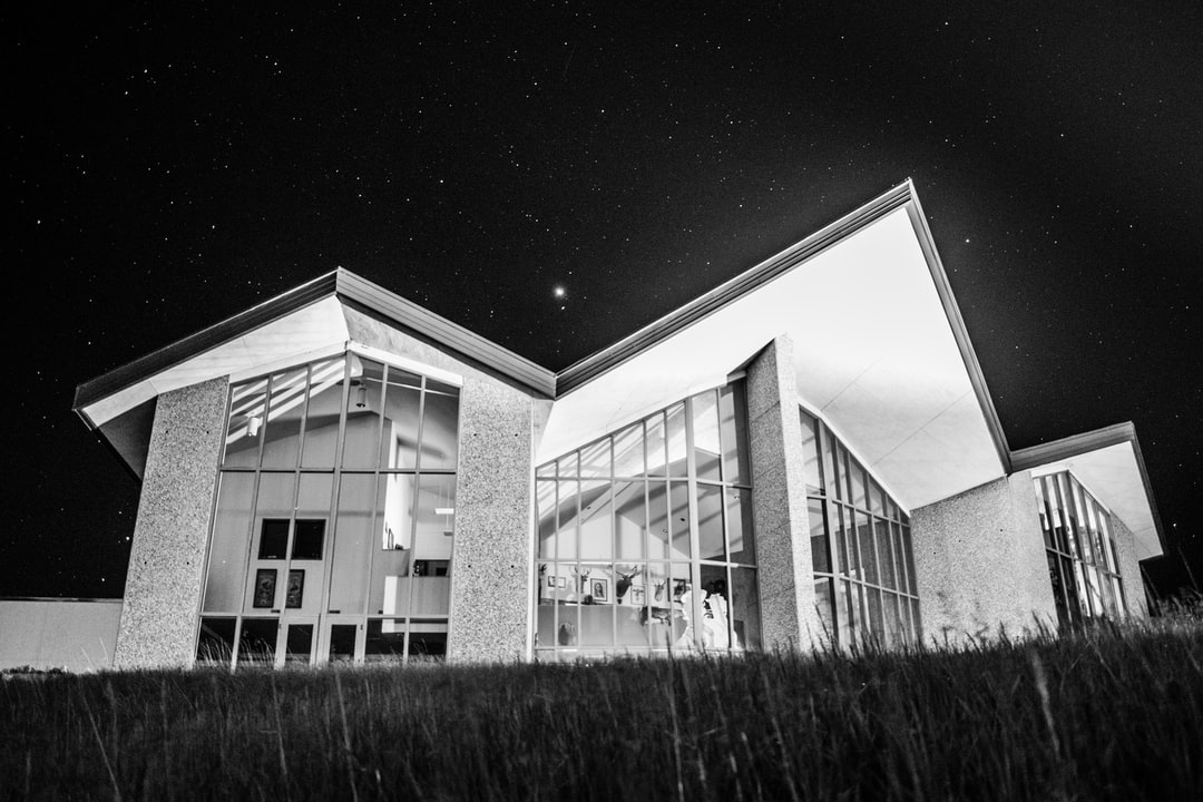 It was a clear night with lots of stars and the Heritage Center building looks like some type of space ship.